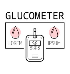 Device for measuring blood sugar flat icon of vector