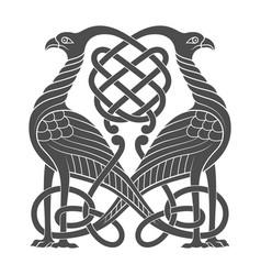 ancient celtic mythological symbol of bird vector image