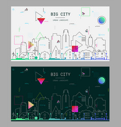 Linear trendy of a big city vector