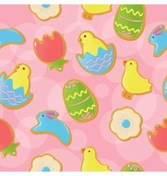 Seamless easter cookie background vector