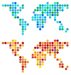 Abstract dot world map set vector