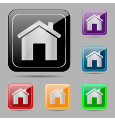 Set web buttons home vector image
