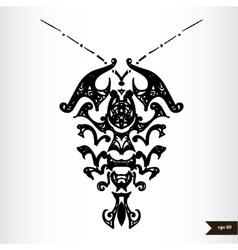 Zodiac signs black and white - Cancer vector image