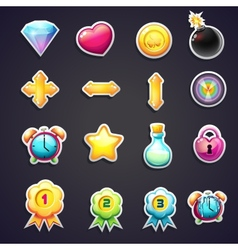 Set of cartoon icons for the user interface of vector