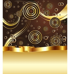 Brown and gold background5 vector