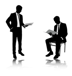 Businessman reading vector