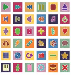 Music and media icons vector