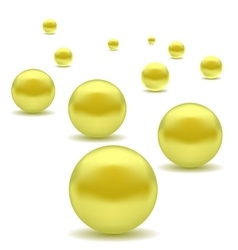 Yellow pearls vector