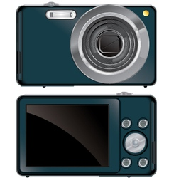 compact digital camera vector image