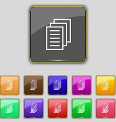 Copy file duplicate document icon sign set with vector
