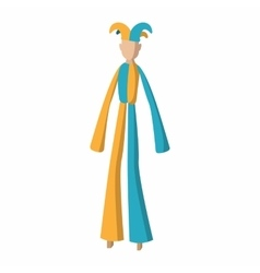 Clown on stilts cartoon vector