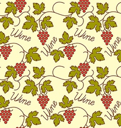 Grapes seamless flat patter vector