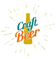 Craft beer golden label vector