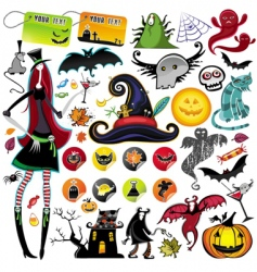 Halloween collection vector image