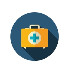 First aid kit flat icon summer vacation vector