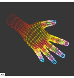 Human arm hand model scanning 3d grid skin vector