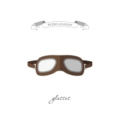 Aircraft glasses in a flat style vector