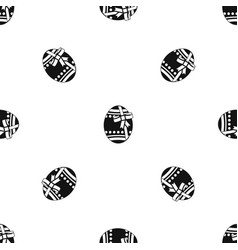 Big easter egg pattern seamless black vector