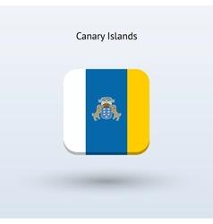 Canary islands flag icon vector