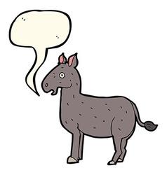 cartoon mule with speech bubble vector image
