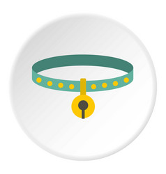 Cat collar icon circle vector