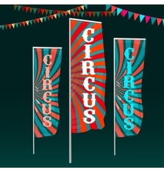 Circus flags image vector