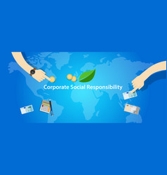 csr corporate social responsibility company vector image vector image