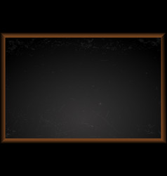 Empty black school chalkboard vector