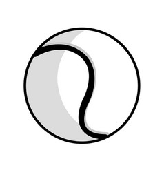 Figure ball to play tennis icon vector