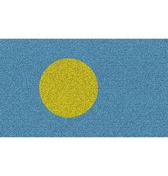 Flags Palau on denim texture vector image