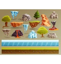 Gaming Landscape Constructor Set vector image