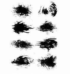 grunge brushes vector image vector image