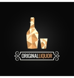 Liquor store poly design background vector