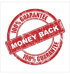 money back stamp vector image vector image