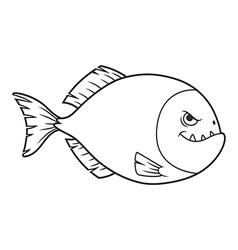 Piranha cartoon vector