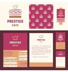 Prestige cafe elegant style vector image vector image