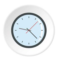 Round analog clock face icon circle vector
