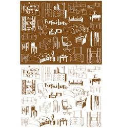 sketch furniture vector image