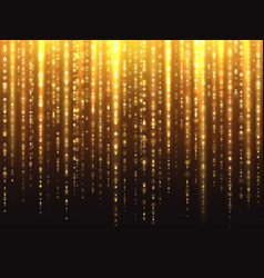 Sparkly gold glitter effect with falling down vector