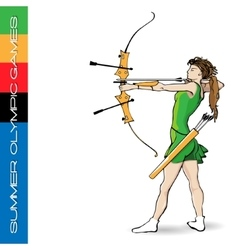Summer Olympic games archery vector image vector image