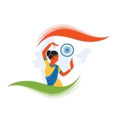 Indian classical dancer creating vector
