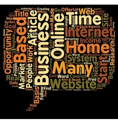 Income opportunity home based business text vector
