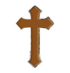 Catholic religion icon vector