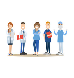 Group of medical doctors in vector