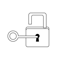 lock and key sign unlocking access password vector image