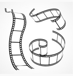 3d film strip collection vector