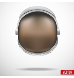Astronaut helmet with reflection glass vector