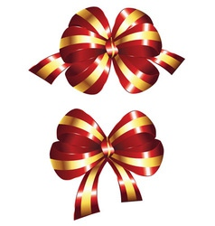 Decorative red bow vector