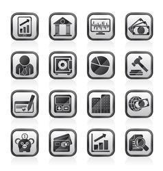 Business finance and bank icons vector