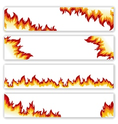 Set of banners flame vector